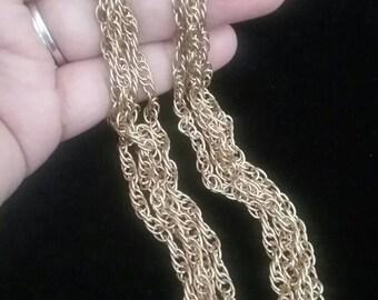 Earrings, Dangle Earrings, Chain Earrings, Fashion Earrings, Vintage Earrings, Gold Earrings, Fashion Jewelry, Vintage Jewelry