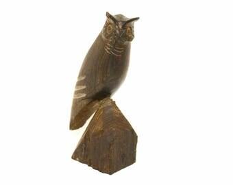 Carved Ironwood Owl Figurine (As Is)