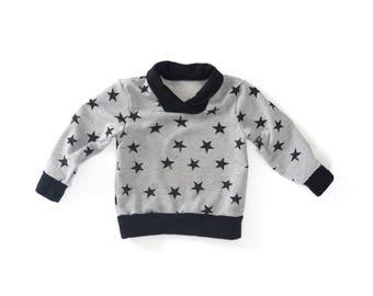 Cowl Neck Sweatshirt - Gender Neutral Sweatshirt - kids baby toddler sweatshirt pullover