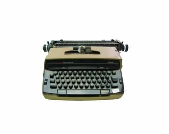 Vintage Working 1980 JC Penney Portable Electric Typewriter Model 1180 Elite with Case & Manual Industrial Office Decor