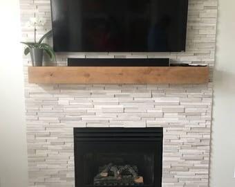 Mantel // Fireplace Mantel // Rustic Wood Mantel // Custom Mantel // Modern Rustic Mantel // Rustic Mantel // 60 inch Mantel, 72 inch Mantel
