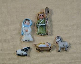 Nativity Embellishment set of 5