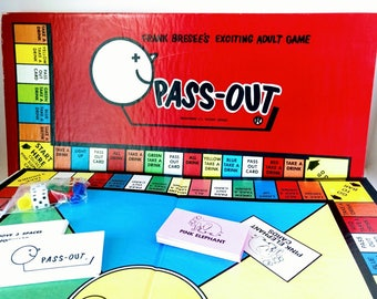 Pass Out Drinking Game Frank Bresee's Adult Board Game
