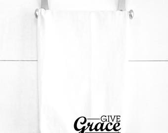 Give Grace Tea Towel Spiritual Religious Home Decorations