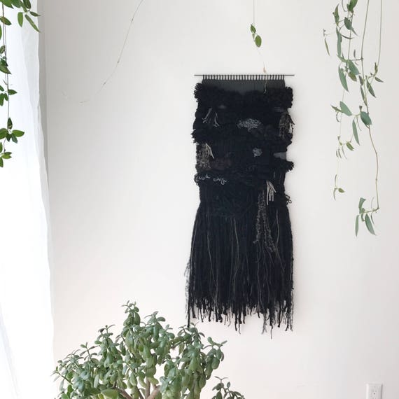 rooted | large handwoven wall hanging | textural weaving
