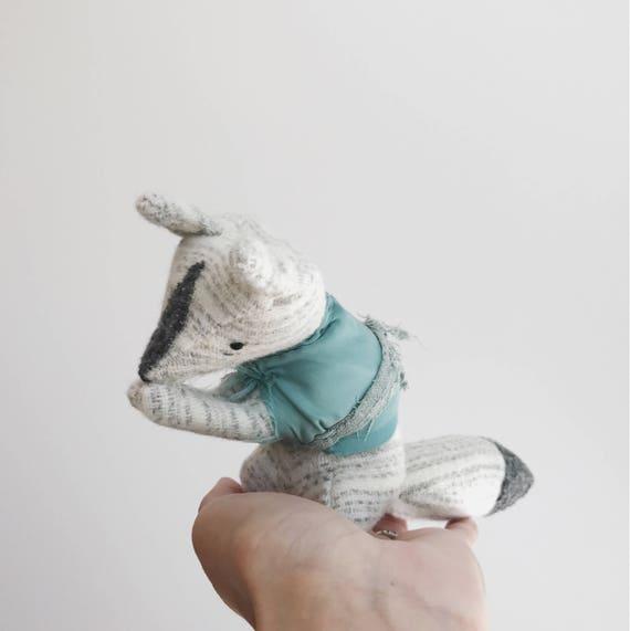 wistful fox | soft sculpture animal