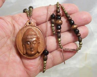 Buddha  Meditating Buddha Amulet Pendant Adjustable Necklace