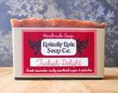 Turkish Delight Cold Process Soap - Vegan Handmade Soap - Ugly Soap!