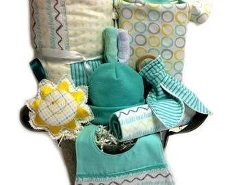 Baby gift basket etsy baby gift basket gender neutral baby gift basket baby gift baskets netural baby negle Image collections