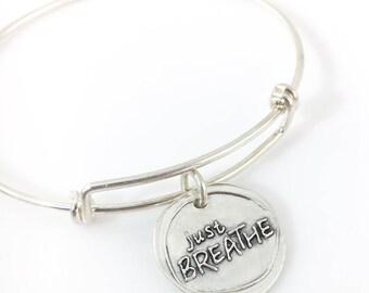 Just Breathe | Wax Seal Inspired Bangle Bracelet