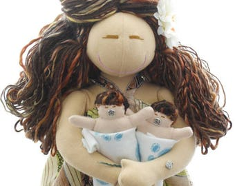 Birthing and Breastfeeding MamAmor Doll Fiona (twins)
