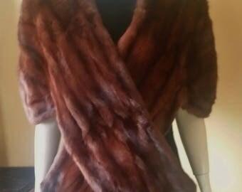 Vintage, Mink Stole, Fur Cape, Mink Shrug, Elegant, Wedding Mink Stole, Real Fur Stole