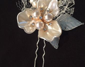 Bridal Rhinestone Hair Stick, Decorative Hairpin, Wedding Hairpin, Bridal Haripin