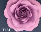 Blooming Rose TEMPLATE SVG (Digital file only)