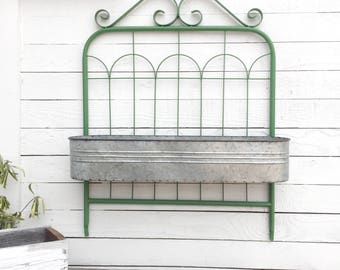 Garden Gate Decor, Metal Wall Decor, Garden Accents, Metal Shelf
