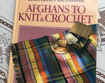 Better Homes & Gardens Afghans to Knit and Crochet, 80's Instructional Book