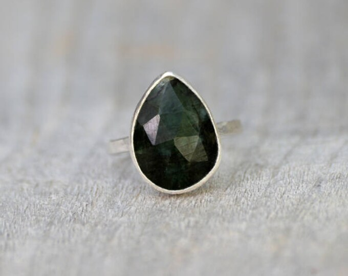 Rose Cut Emerald Ring, Over 5ct Emerald Ring, May Birthstone, Emerald Gift, Handmade In The UK