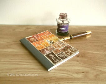 Sunset Birthday Address Book, A6 Planner - Stamp Art Gift Idea