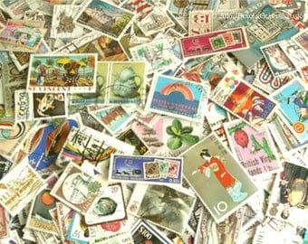 Mixed World postage stamps packet - For Crafts or Collection Builder