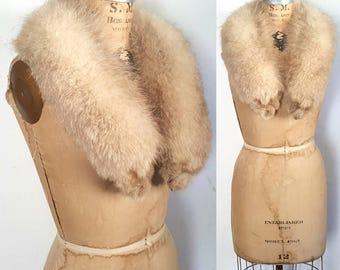 FOX Fur Large Silver Collar / bridal wedding
