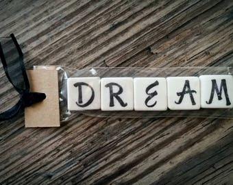 DREAM Tumbled Stone miniMagnet Word Strip