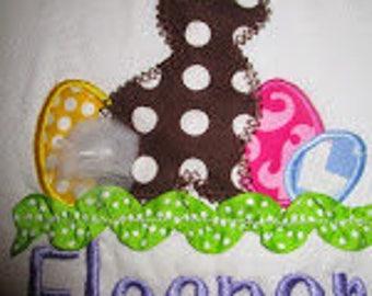 Chocolate Easter Bunny Applique Shirt