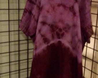 Casual summer Caftan Dress, Hand Dyed, Plus, One Size