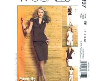 Womens Jacket, Slim Skirt, Shorts, Pants Pattern McCalls 5397 Lined Jacket Trousers Suit Size 14 16 18 20 Sewing Pattern UNCUT