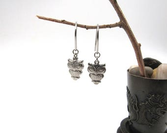 NEW Stainless Dangling Owl Earrings (ERSS170)