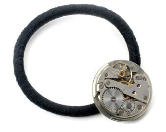 Steampunk Vintage Watch Movement Scrunchie