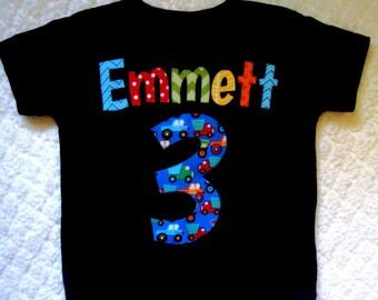 Truck Birthday Shirt- Birthday Shirt- Personalized Shirt- 2 Year Old shirt- 3 year old birthday shirt- Truck Birthday Party- Transportation
