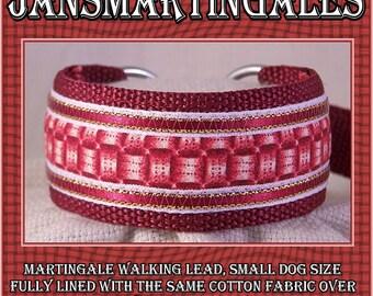 "Jansmartingales, Dog Collar Leash Combination Walking Lead,  Italian Greyhound, Small Dog Size, 9 1/2"" Collar Section, Ibur073"