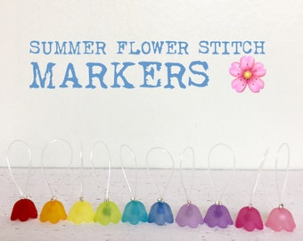 SUMMER FLOWERS Stitch markers for Knitting, snag free