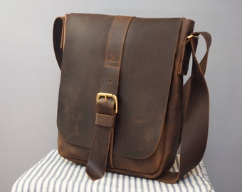 Mens Leather Buckle Bag, manbag, leather bag, mens leather bag, mans bag, portrait leather bag, mens leather satchel, satchel bag, mens bag