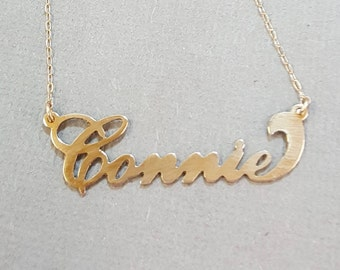 Gold Name Necklace | Custom Carrie 14k or 10k Rose, White Or Yellow Gold Name Necklace | Choose from 50 different Styles Personalized