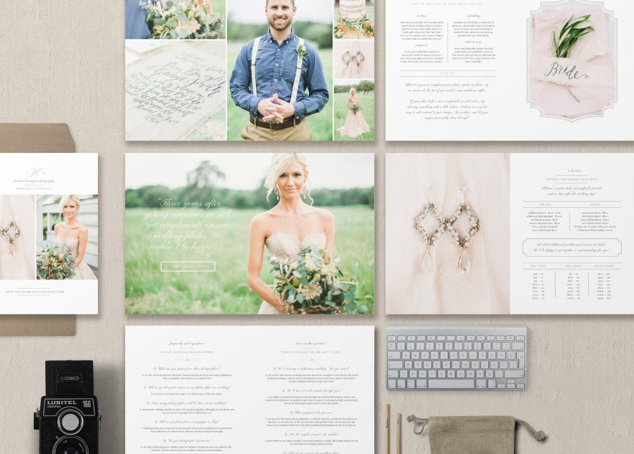 Wedding Photography Magazine Template Photography Price List