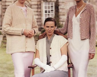 Classic Elite Yarns Knitting Pattern #644 To the Manor Born - Cardigans, Vest