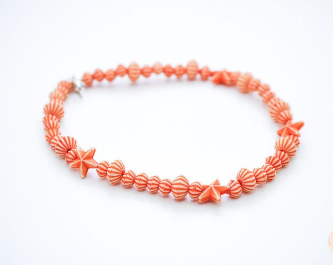 Coral Beach Beaded Anklet.