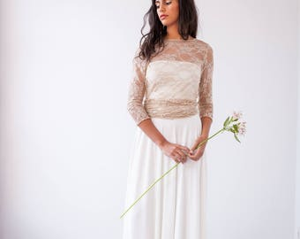 Simple wedding skirt, long bridal skirt, simple bridal skirt, skirt for wedding dress, long ivory skirt, long white skirt, wedding separates