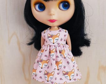Blythe Dress - Flower Fox