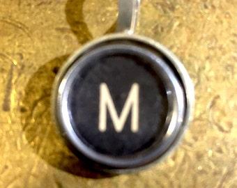 M Typewriter Key Pendant