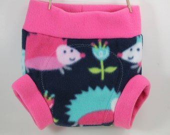 Hedgehog Diaper/ Fleece Shortie Soaker/ Diaper Cover- Great Baby Shower Gift