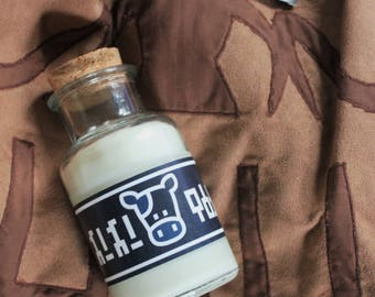 Lon Lon Milk Bottle // Scented Gamer Candle & Cosplay Prop - Full Size!