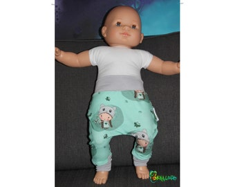Baggy pants or harem baby from 0 to 6 doll neko Mint