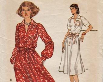 Very Easy Vogue 9770 / Raglan Sleeve Dress / Shirtdress / Bust 39