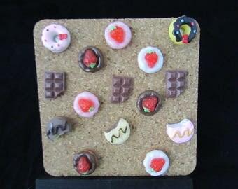 Donuts Push Pins, Chocolate Push Pins, Cake Push Pins, Sweet Push Pins, Dessert Push Pins, Donuts, Chocolate pins, Donut Pins, Cake Pins