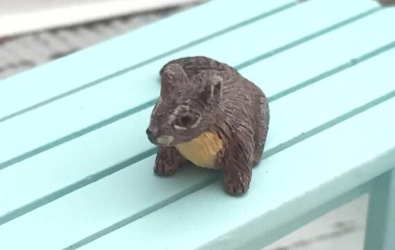 Miniature Squirrel Figurine, Dollhouse Miniature, 1:12 Scale, Mini Squirrel