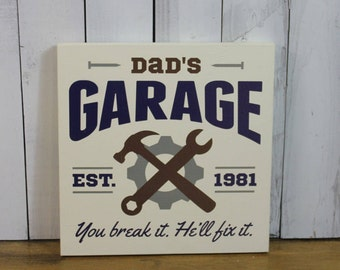 In Time for Christmas/Dad's Garage-You break it. He'll Fix it