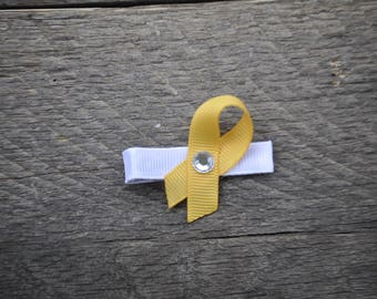 Childhood Cancer Awareness Ribbon Hair Clip | Awareness Ribbon Hair Bow | Childhood Cancer Awareness Hair Clip |  Childhood Cancer Hair Clip