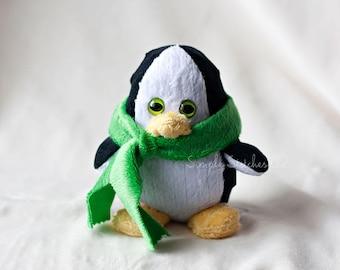 "CUSTOM Medium Size 8"" Paddy the Penguin Stuffed Animal - Toy - Softie - Stuffed Penguin - SweetBriar Sisters Penguin"